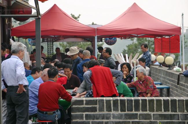 Китайские старики играют