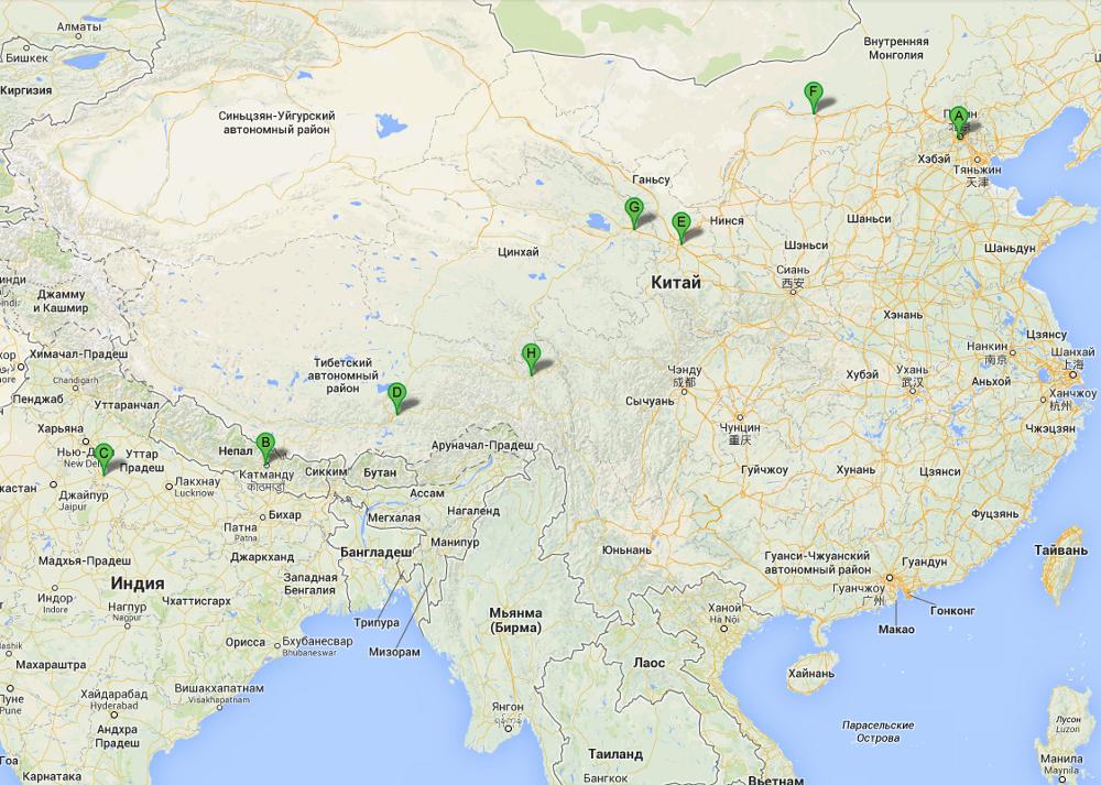 Маршрут автостопом в Индию