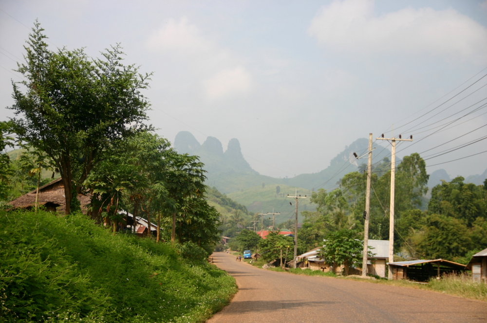 горы Лаос