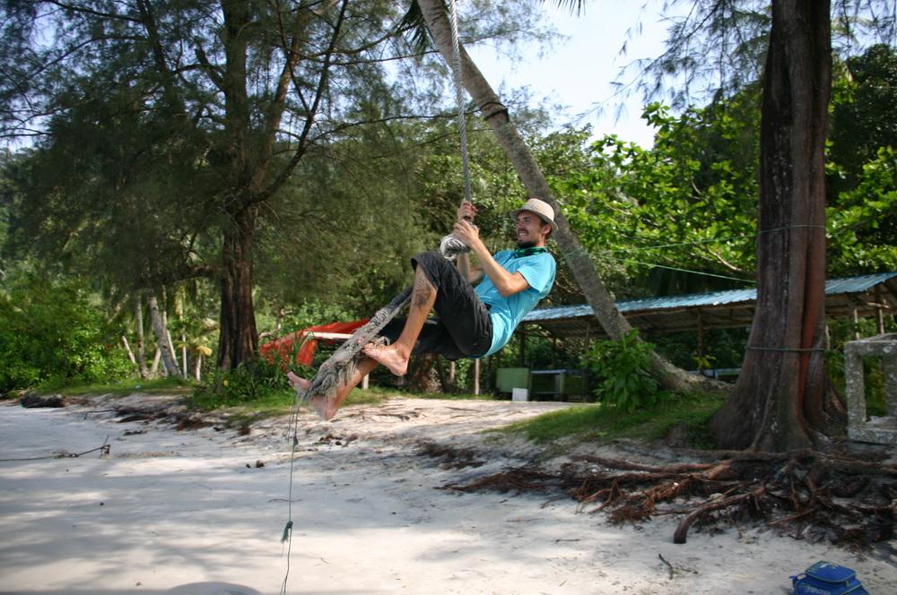 Пляж обезьян на Пенанге