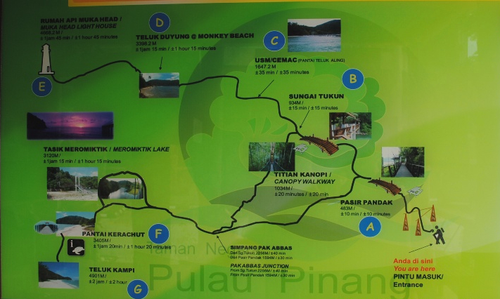 национальный парк пенанга карта
