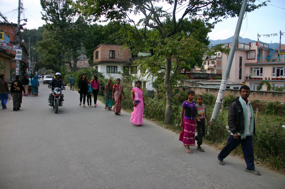 На подходе к Сваямбунатх