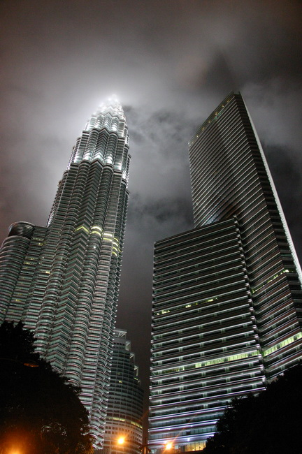 Petronas towers in the night