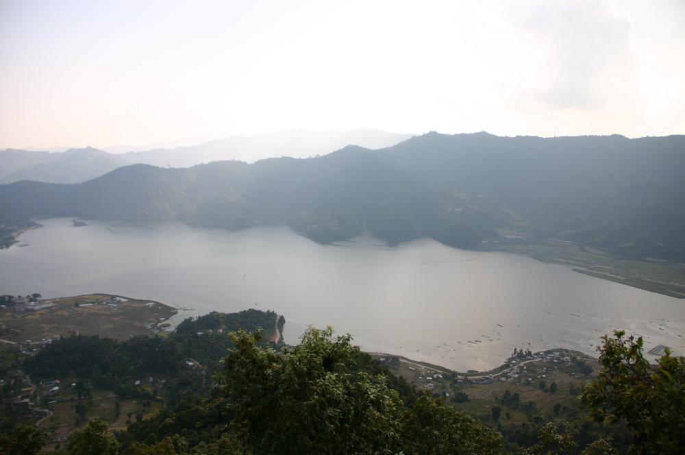 Вид на долину покхары Сарангкот