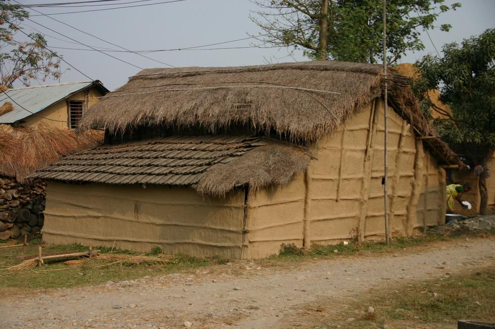 Типичный непальский дом из глины