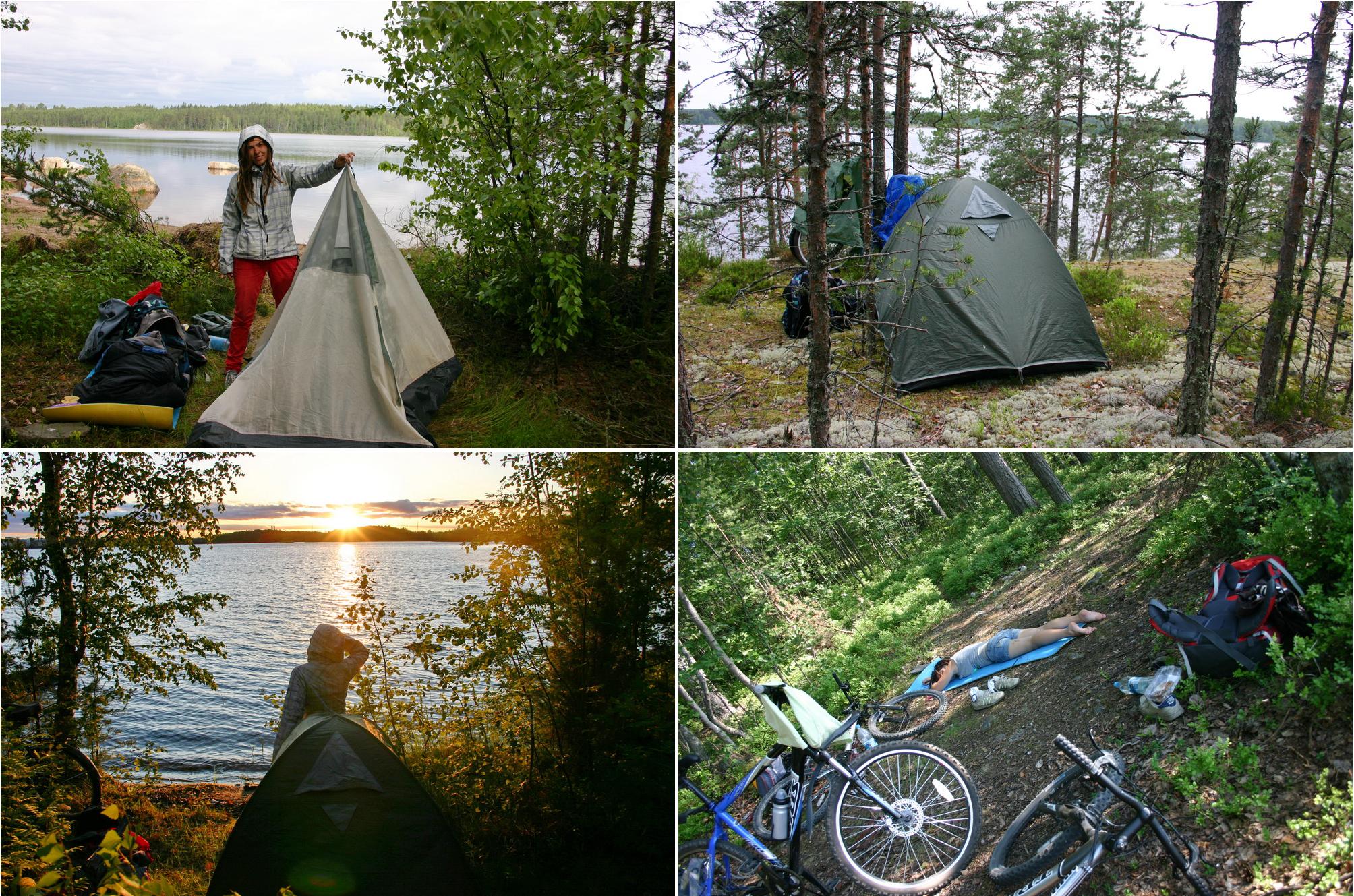 Где мы ставили палатку в Финляндии