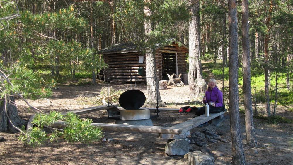 Место для палатки и костра в Финляндии