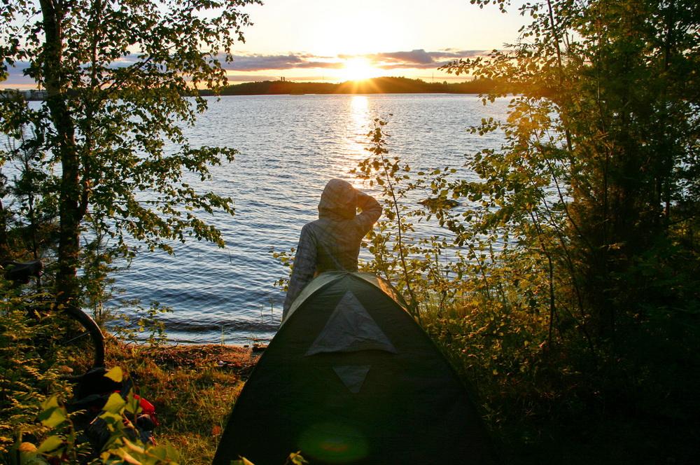 С палаткой в Лаппеенранте